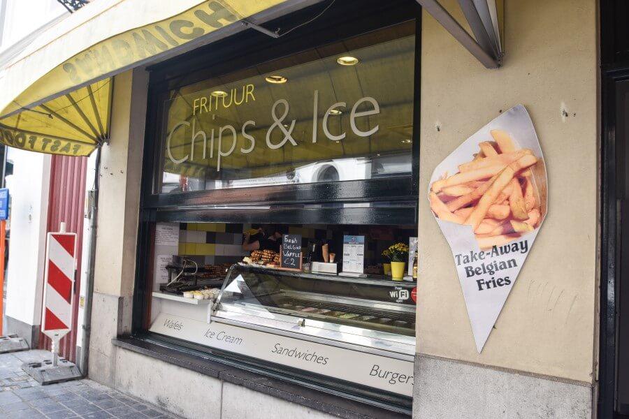 Belgian fries Brugge Photo