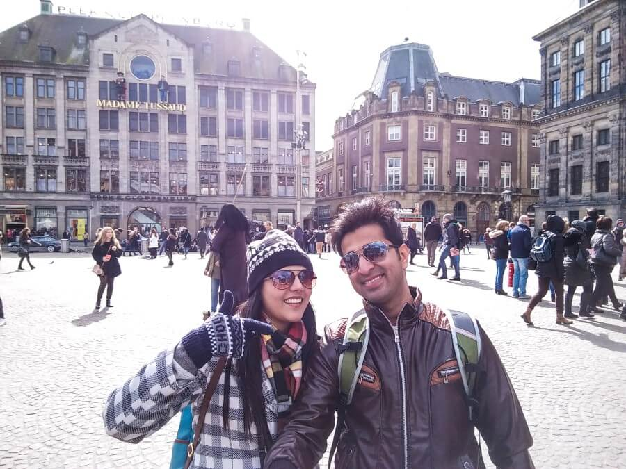 Busy Dam Square Amsterdam Photo Journey