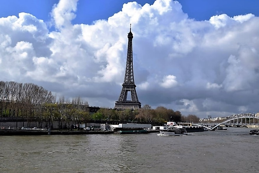 Eiffel Tower Seine River