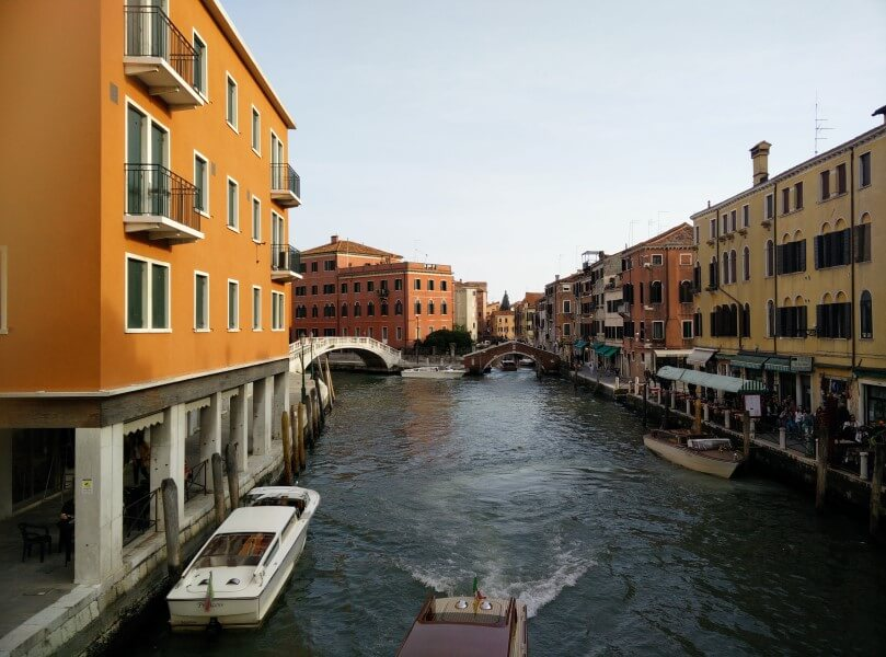Canals are means of commutation in Venice