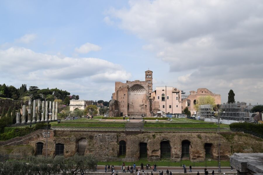 Roman Forums from Colosseum