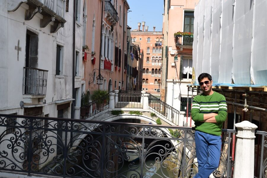 Small bridges in venice streets