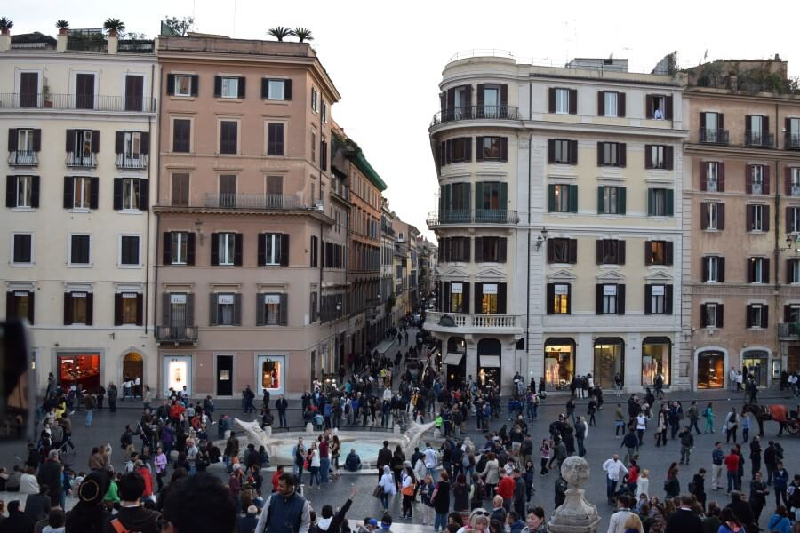 Spanish Steps evening crowd