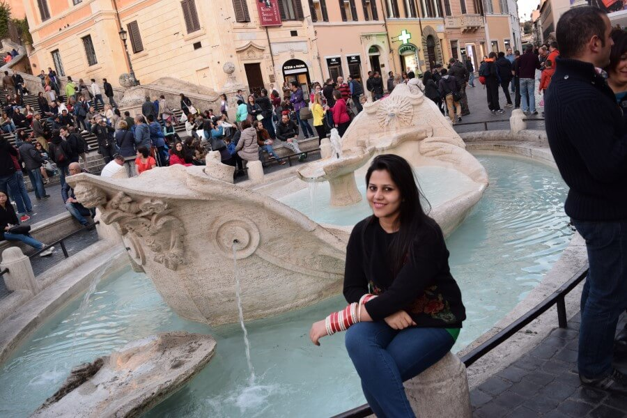Spanish Steps fountain