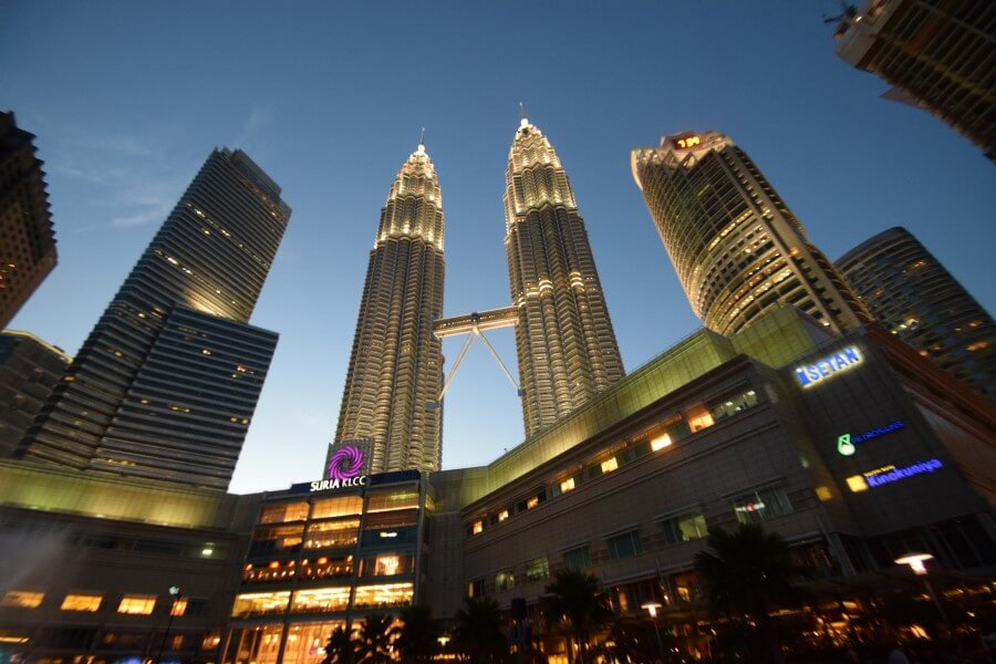 Petronus towers in night