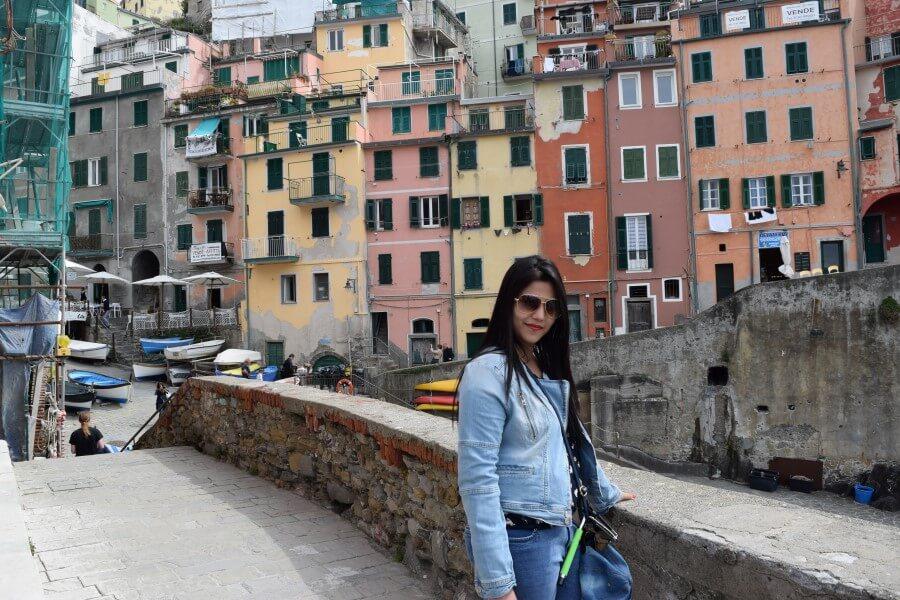 Riomaggiore homes nestled in a valley