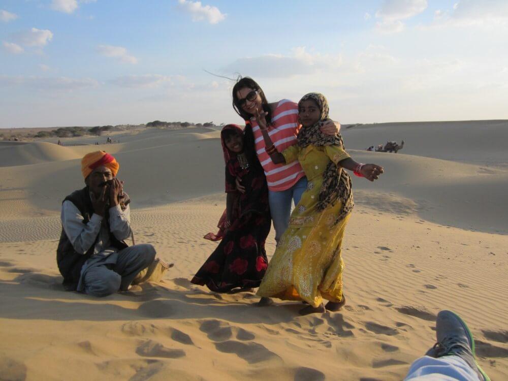 traveling professor dancing with locals