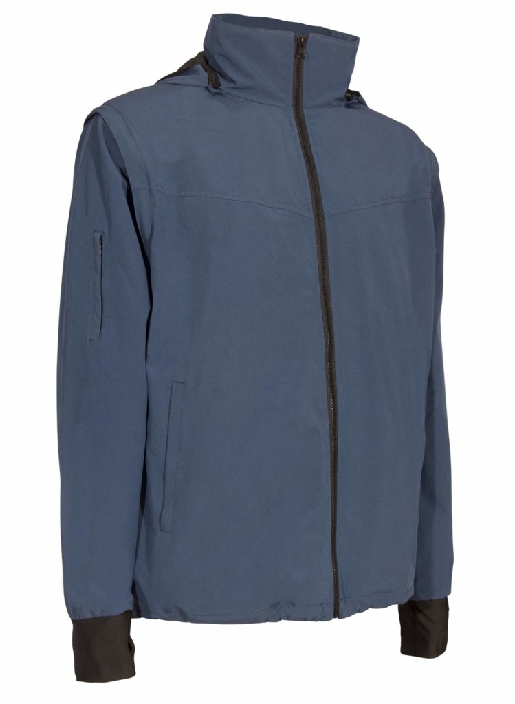 blue travel jacket