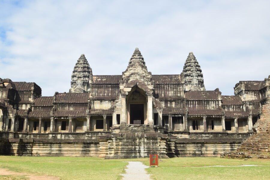 huge temple complex