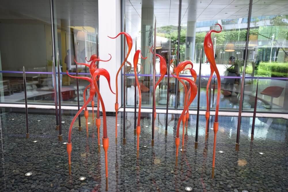 modern art lobby