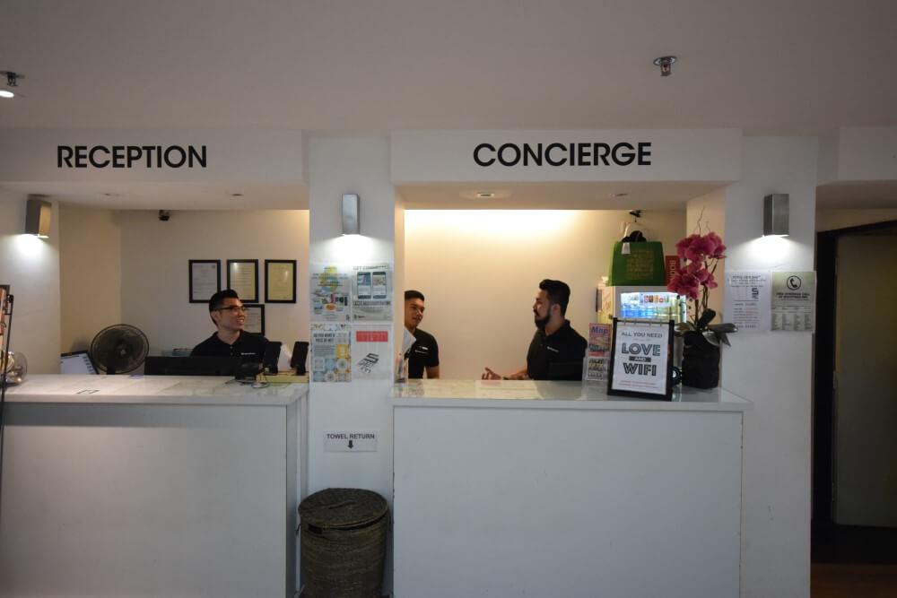 reception of hostel