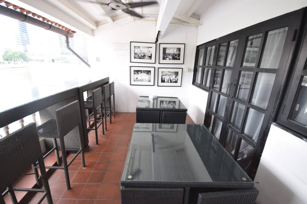 terrace of project boat quay hostel