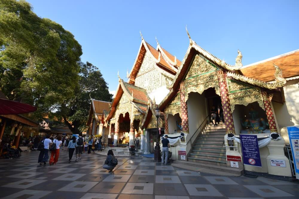 Beautiful temple Wat Phra That Doi Suthep