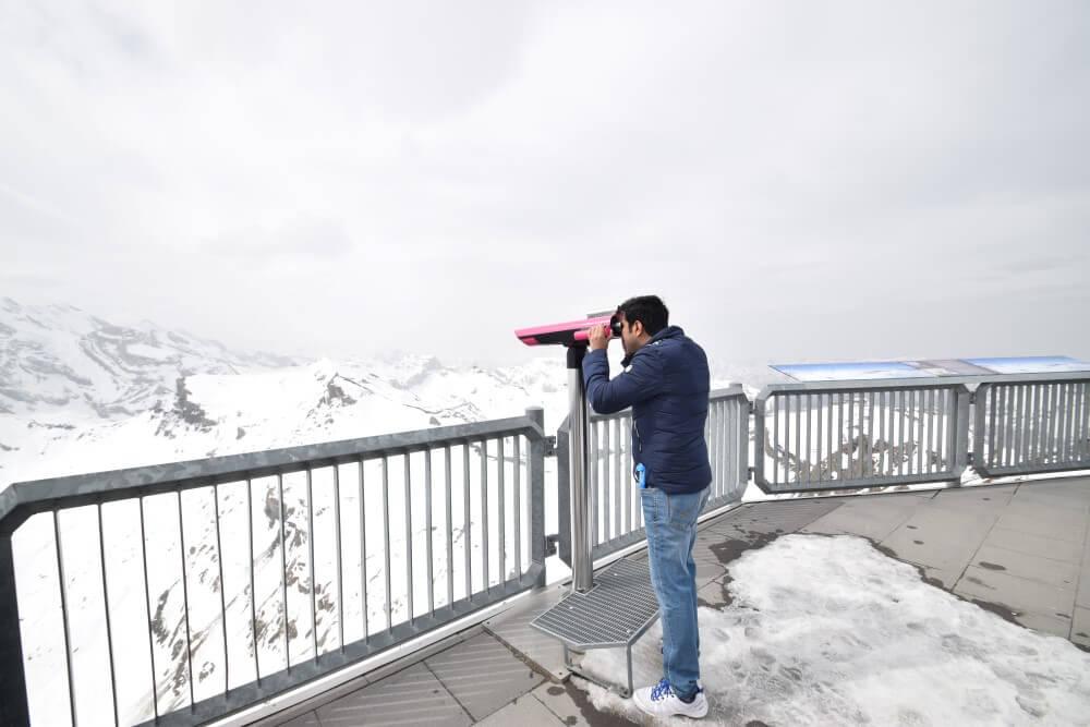 Binoculars at outdoor terrace