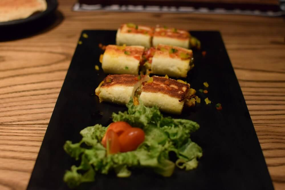 Stuffed Paneer Roll