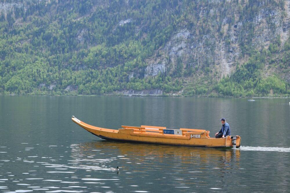 Boat ride in Hallstatt lake