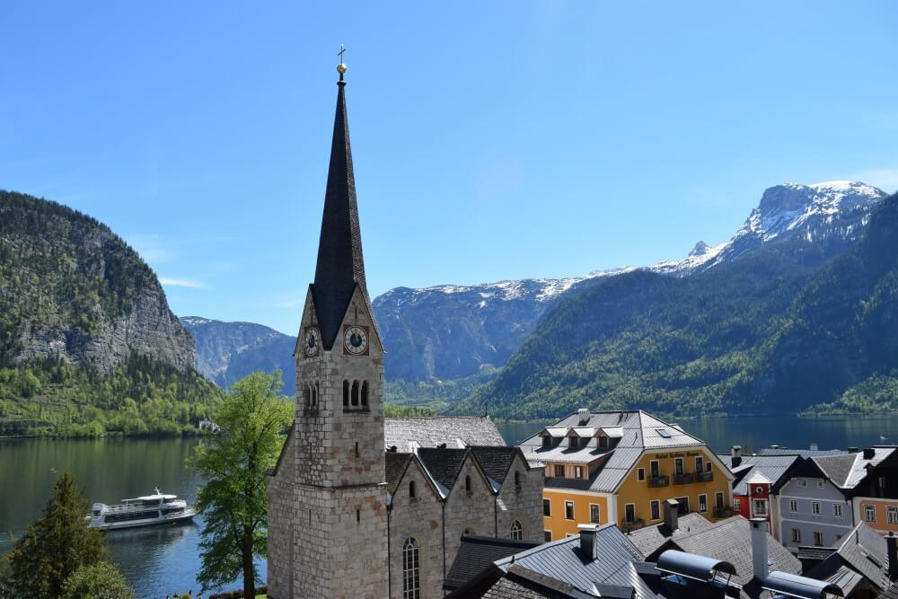amazing view of hallstatt