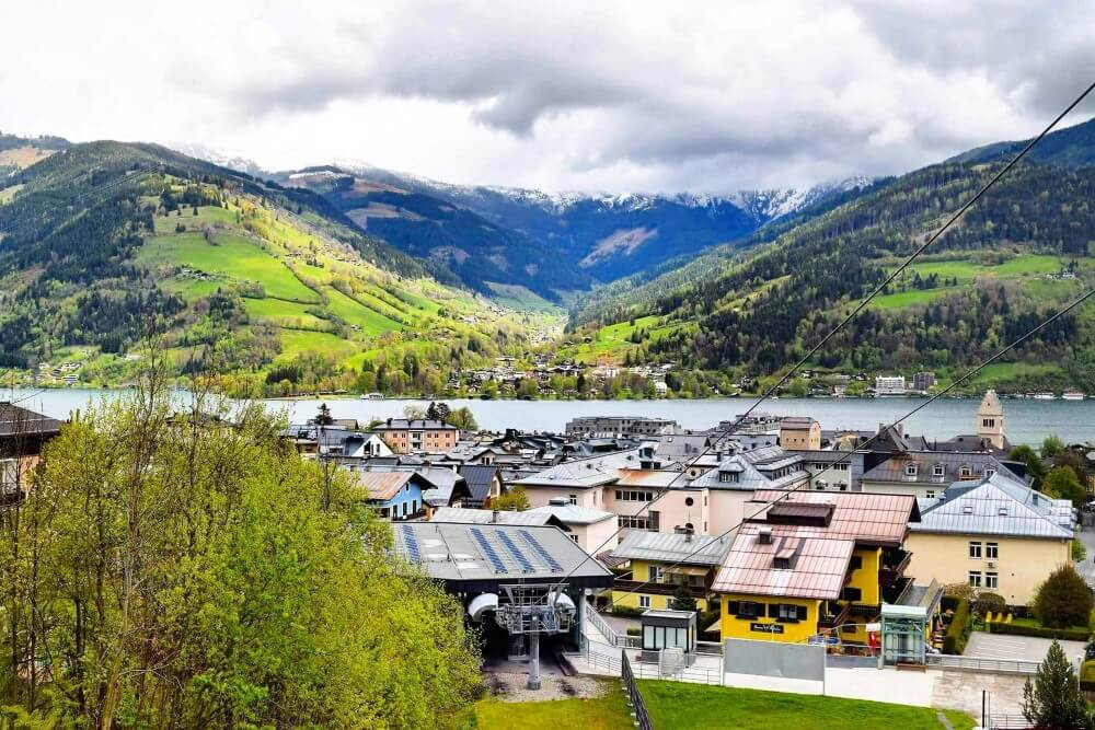 Austrian village Zell am see