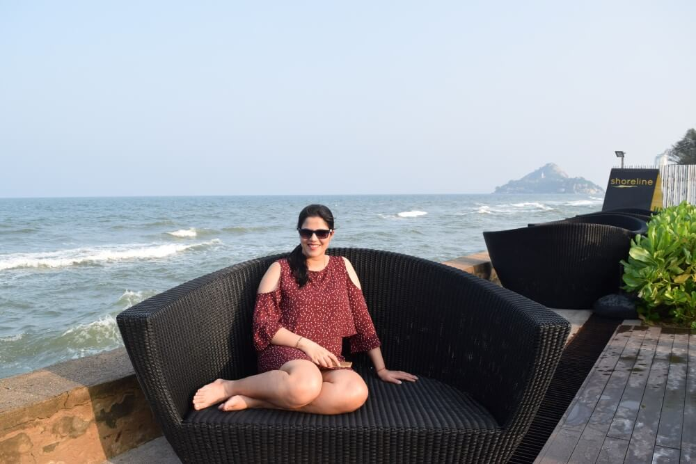 sea view at beach restaurant