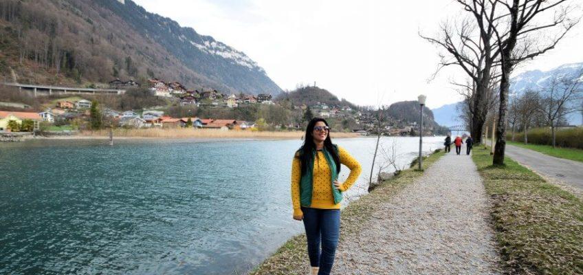 Interlaken Photo Journey, Posing at Interlaken lake